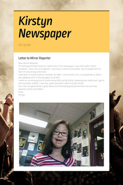 Kirstyn Newspaper