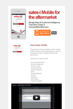 sales-i Mobile for the aftermarket