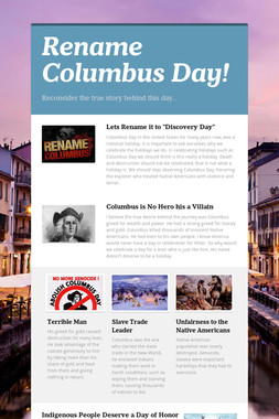 Rename Columbus Day!