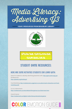 Media Literacy: Advertising Y3