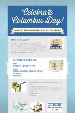 Celebrate Columbus Day!