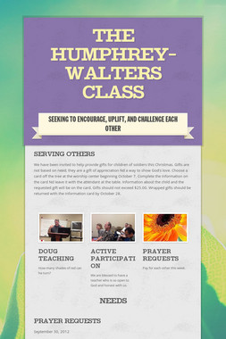The Humphrey-Walters Class