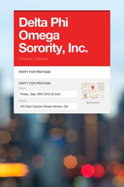 Delta Phi Omega Sorority, Inc.