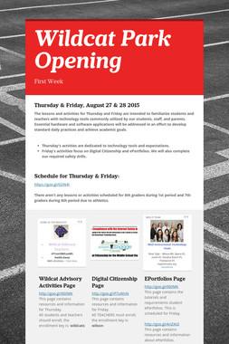 Wildcat Park Opening