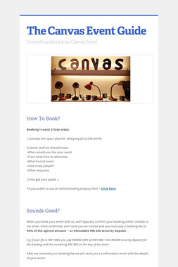 The Canvas Event Guide