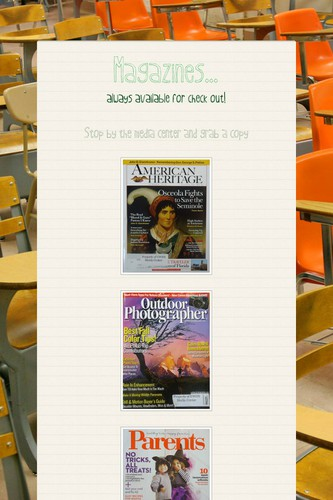 Magazines...