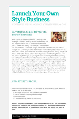Launch Your Own Style Business