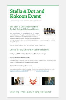 Stella & Dot and Kokoon Event