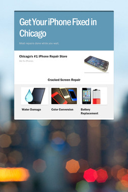 Get Your iPhone Fixed in Chicago