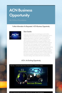 ACN Business Opportunity