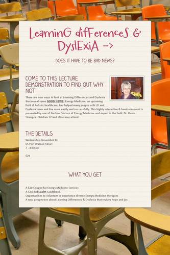 LearninG difFerenceS & DyslExiA  ->