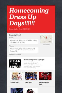 Homecoming Dress Up Days!!!!!!