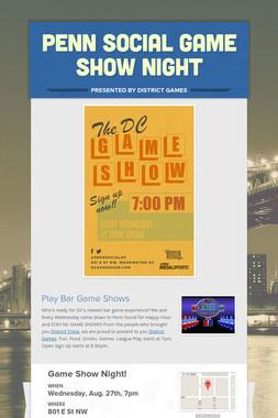 Penn Social Game Show Night