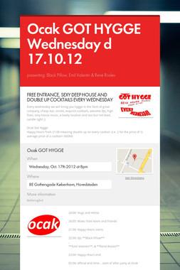 Ocak GOT HYGGE Wednesday d 17.10.12
