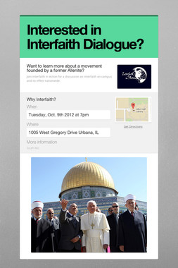Interested in Interfaith Dialogue?