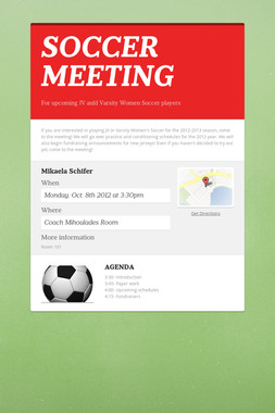 SOCCER MEETING
