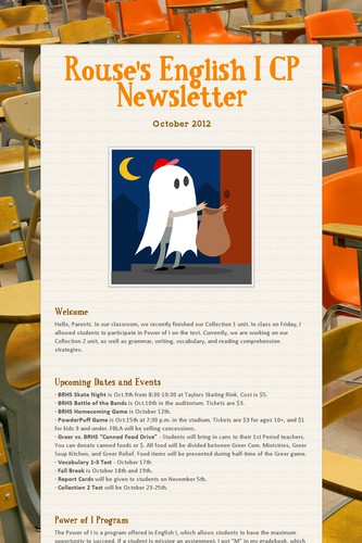 Rouse's English I CP Newsletter