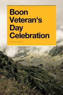 Boon Veteran's Day Celebration