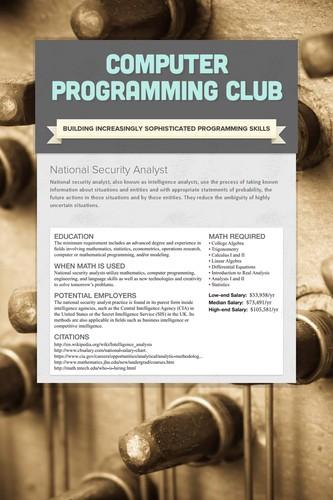 Computer Programming Club