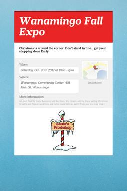 Wanamingo Fall Expo