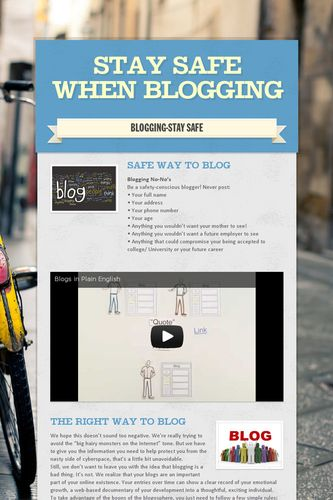 STAY SAFE WHEN BLOGGING
