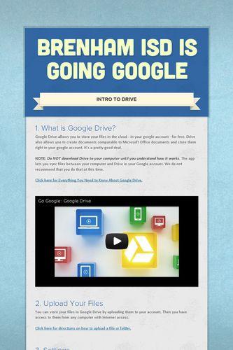 Brenham ISD is Going Google