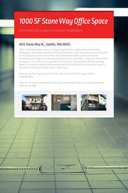 1000 SF Stone Way Office Space