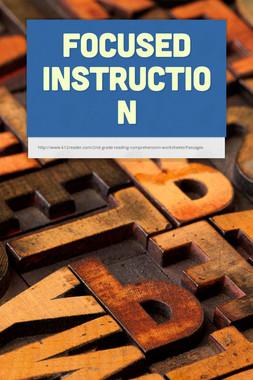 Focused Instruction