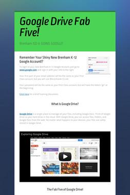 Google Drive Fab Five!