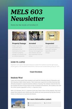 MELS 603 Newsletter