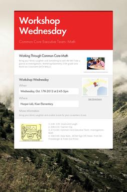 Workshop Wednesday