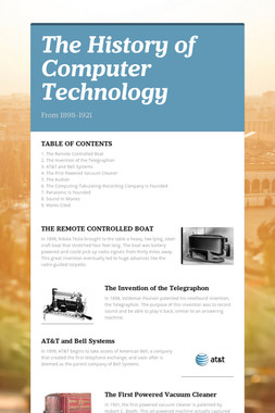 The History of Computer Technology