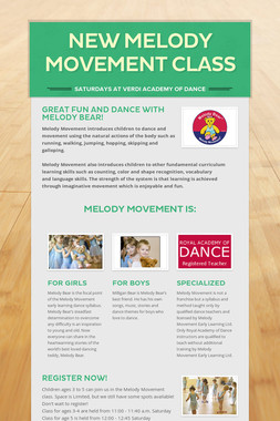 New Melody Movement Class