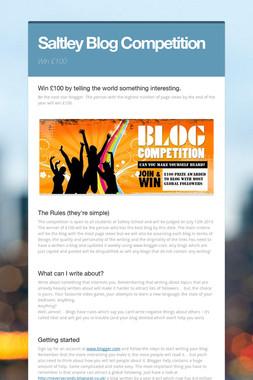 Saltley Blog Competition