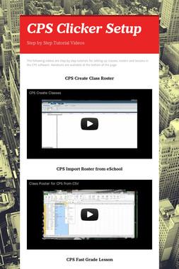 CPS Clicker Setup
