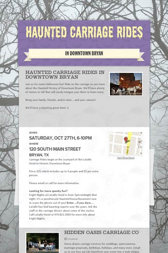 Haunted Carriage Rides