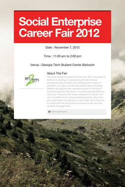Social Enterprise Career Fair 2012