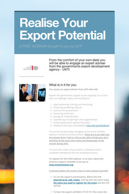 Realise Your Export Potential