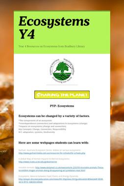 Ecosystems Y4
