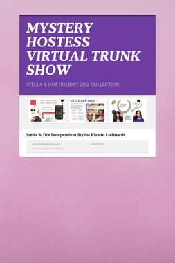 MYSTERY HOSTESS VIRTUAL TRUNK SHOW