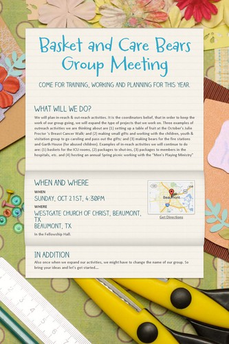 Basket and Care Bears Group Meeting