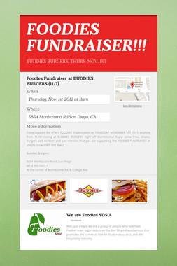 FOODIES FUNDRAISER!!!