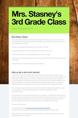 Mrs. Stasney's 3rd Grade Class