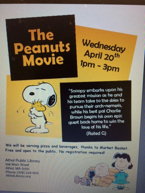 Plan to Attend a Spring Vacation Week Movie at the Athol Library