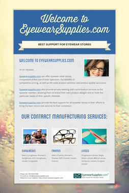 Welcome to EyewearSupplies.com