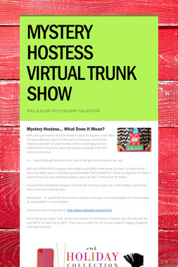 MYSTERY HOSTESS VIRTUAL TRUNK SHOW