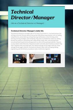 Technical Director/Manager