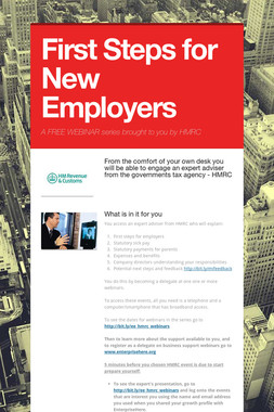 First Steps for New Employers