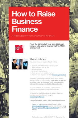 How to Raise Business Finance
