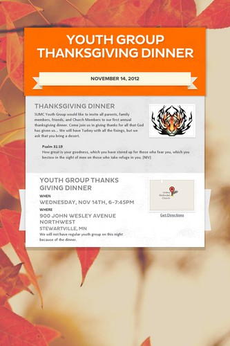 Youth Group Thanksgiving Dinner